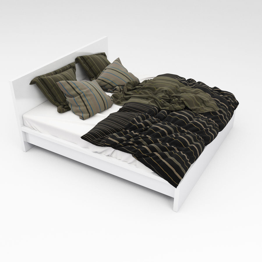 Bed collection 06 royalty-free 3d model - Preview no. 8
