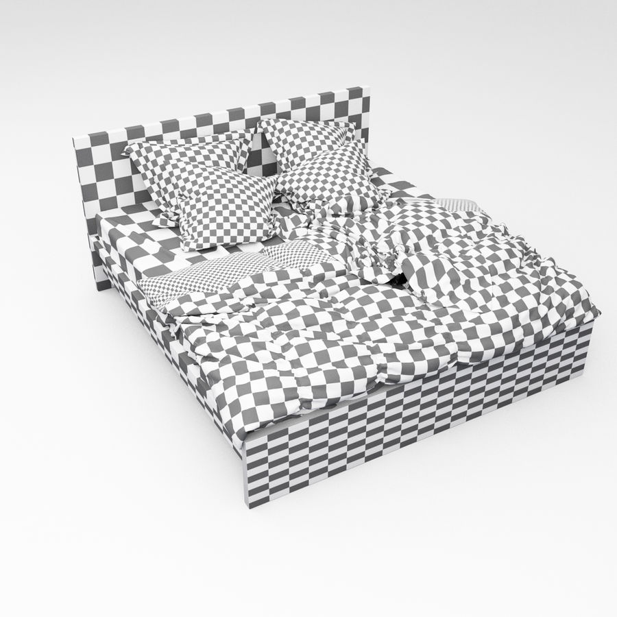 Bed collection 06 royalty-free 3d model - Preview no. 14
