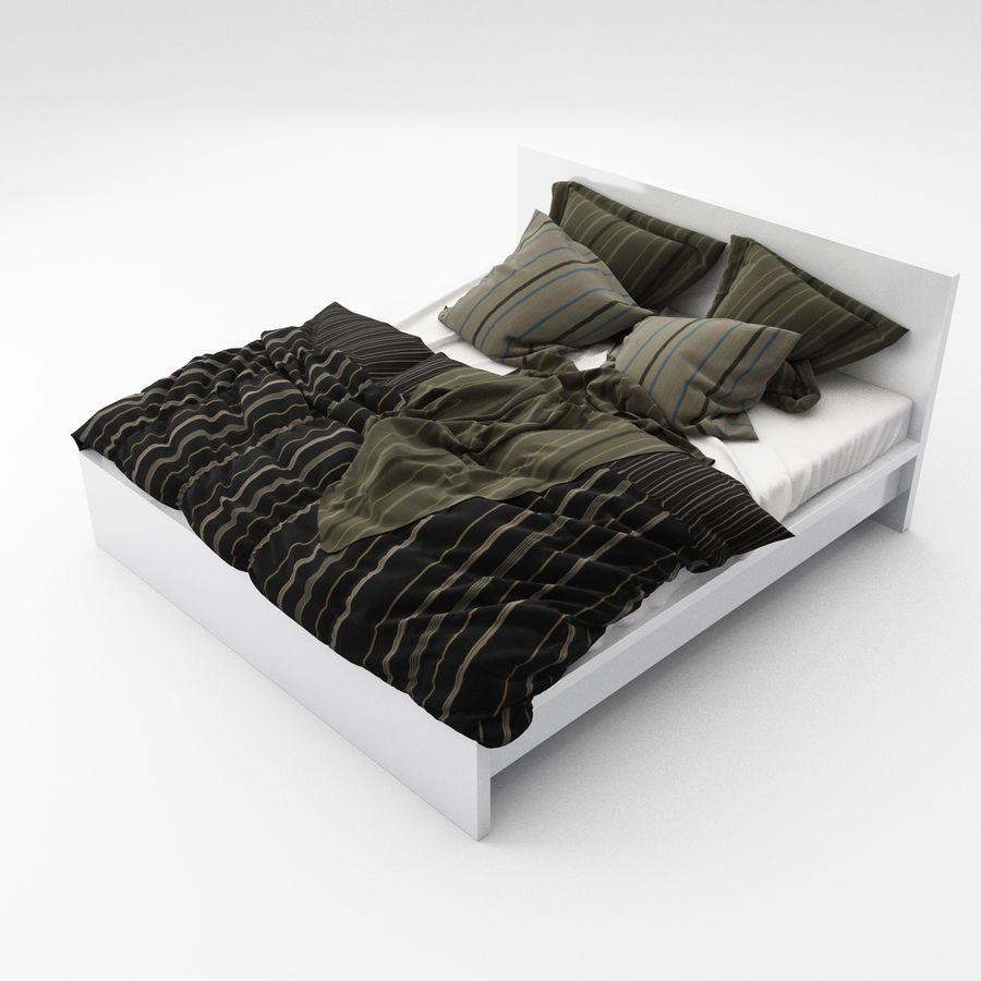 Bed collection 06 royalty-free 3d model - Preview no. 4