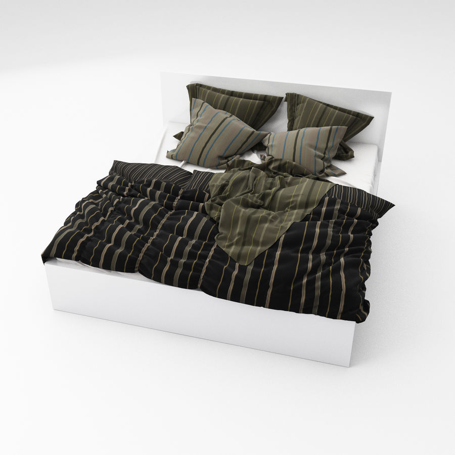 Bed collection 06 royalty-free 3d model - Preview no. 3