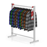 Swetry na wieszakach 3d model