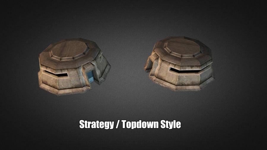 陣地壕 royalty-free 3d model - Preview no. 4