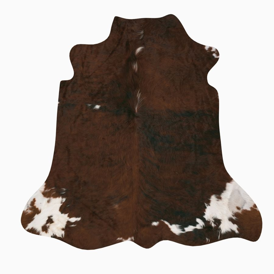 Cowhide animal skin rug royalty-free 3d model - Preview no. 4