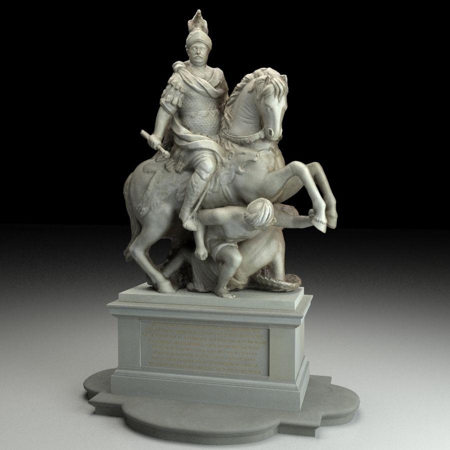 Ян III Собеская скульптура royalty-free 3d model - Preview no. 6