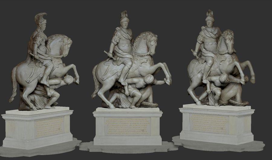 Ян III Собеская скульптура royalty-free 3d model - Preview no. 5