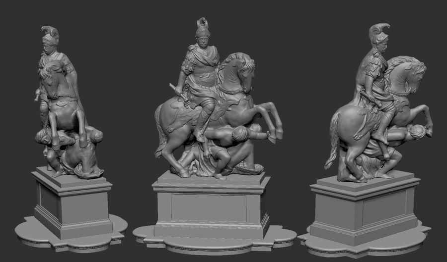 Ян III Собеская скульптура royalty-free 3d model - Preview no. 3