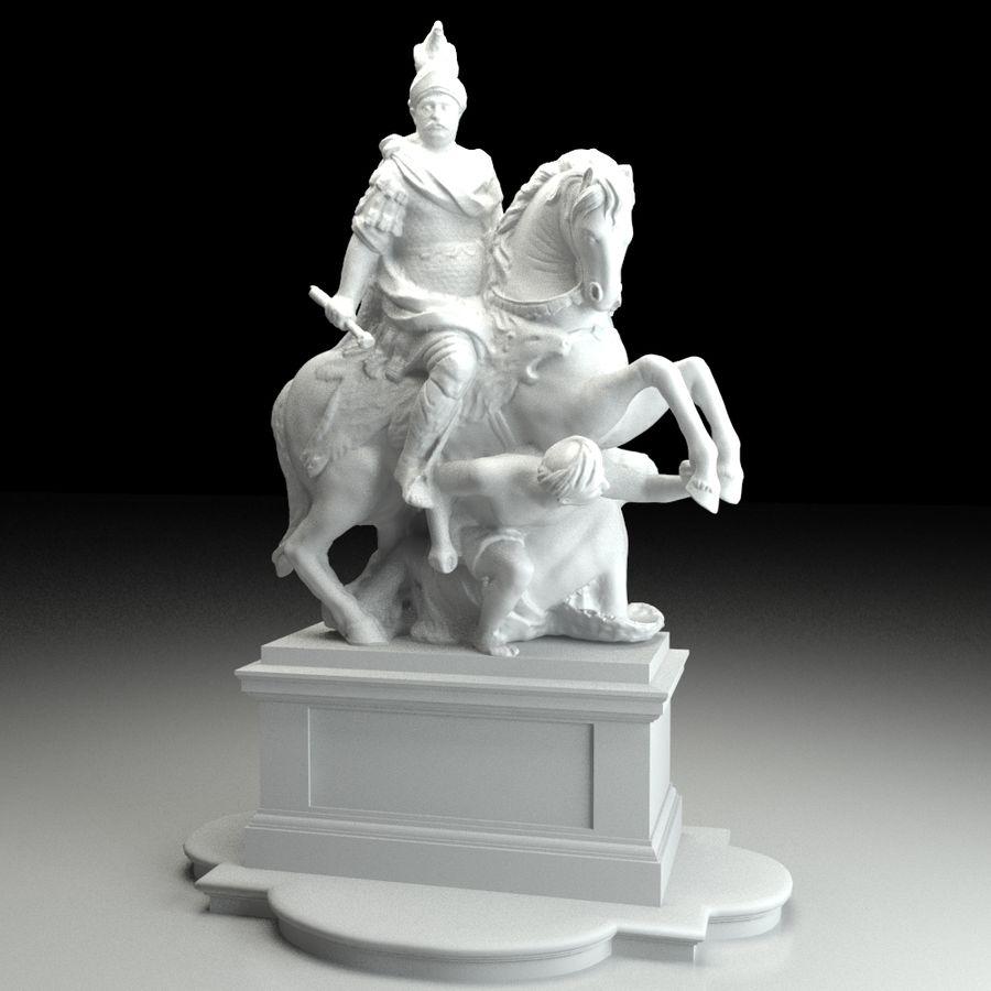 Ян III Собеская скульптура royalty-free 3d model - Preview no. 1