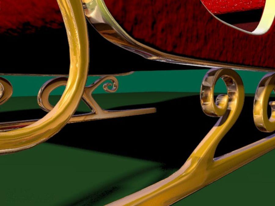 Traîneau du Père Noël royalty-free 3d model - Preview no. 4