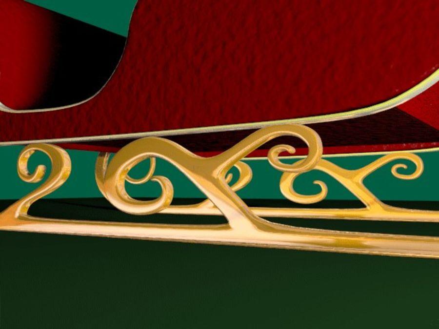 Traîneau du Père Noël royalty-free 3d model - Preview no. 6