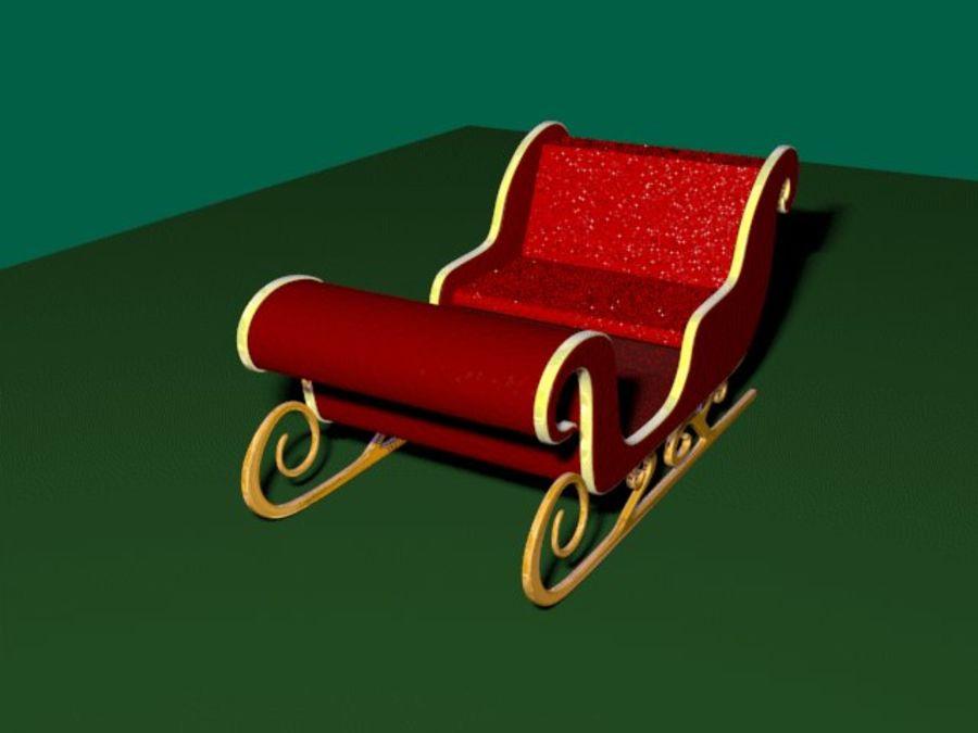 Traîneau du Père Noël royalty-free 3d model - Preview no. 1