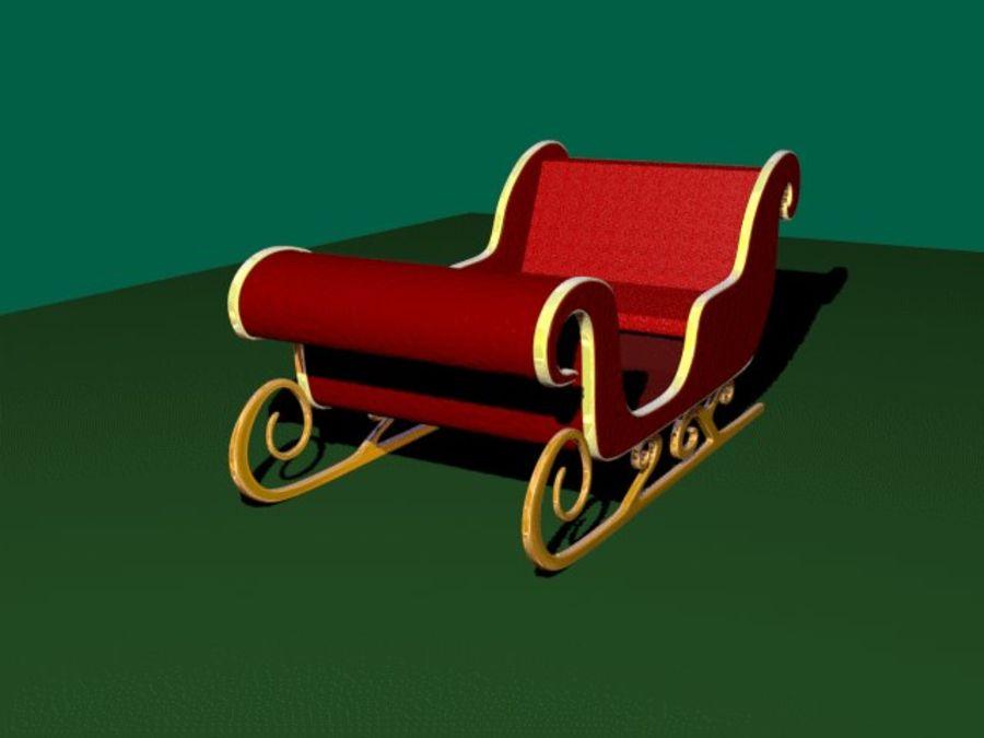 Traîneau du Père Noël royalty-free 3d model - Preview no. 3