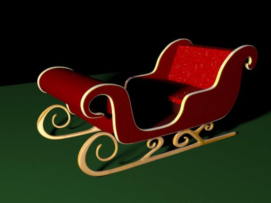 Traîneau du Père Noël royalty-free 3d model - Preview no. 2