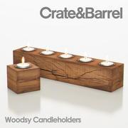 Woodsy Candleholder 3d model