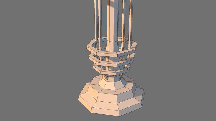 Torre de bobina TD Tesla royalty-free modelo 3d - Preview no. 9