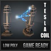 Wieża cewki TD Tesli 3d model