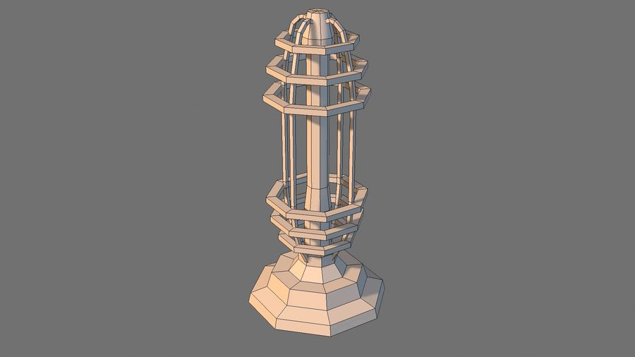 Torre de bobina TD Tesla royalty-free modelo 3d - Preview no. 7