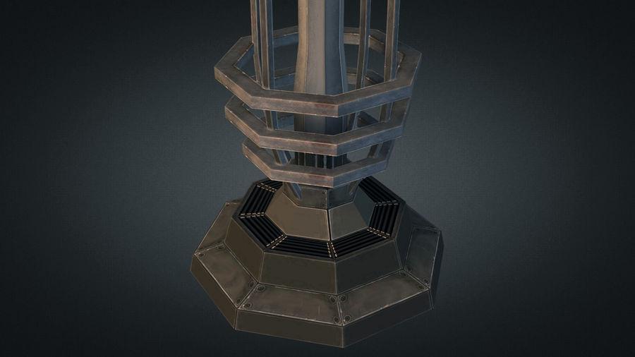 Torre de bobina TD Tesla royalty-free modelo 3d - Preview no. 6