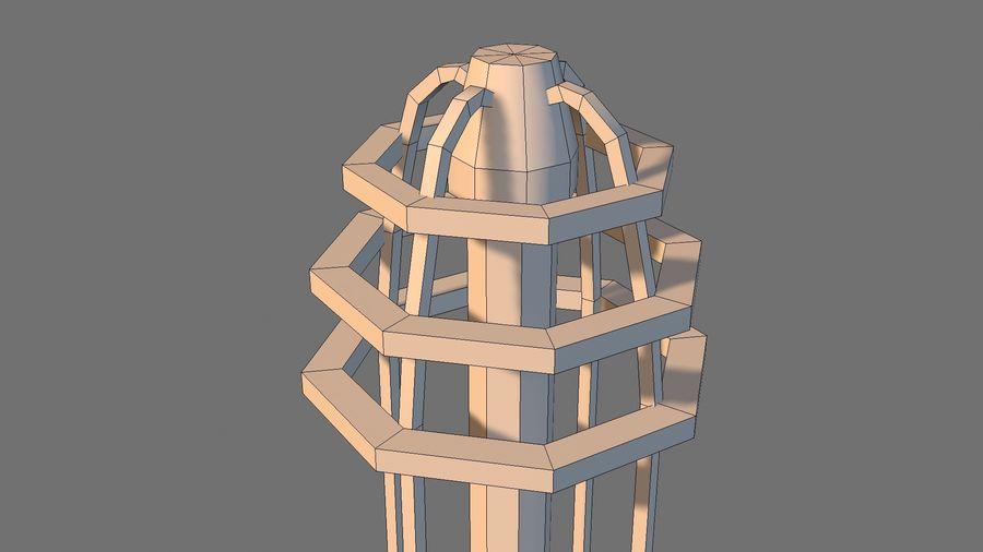Torre de bobina TD Tesla royalty-free modelo 3d - Preview no. 8