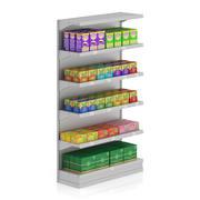 市場の棚-お茶 3d model