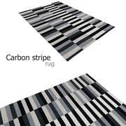Carbon stripe rug 3d model