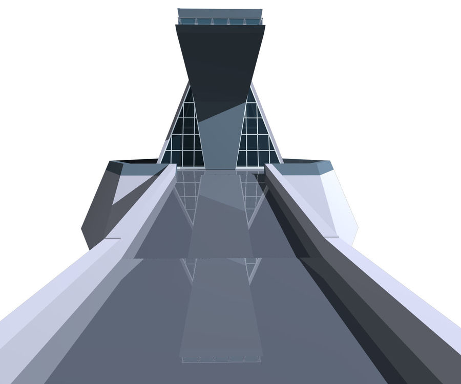 Futuristic architecture royalty-free 3d model - Preview no. 6