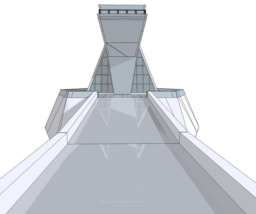 Futuristic architecture royalty-free 3d model - Preview no. 7