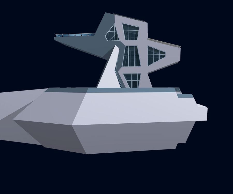 Futuristic architecture royalty-free 3d model - Preview no. 4