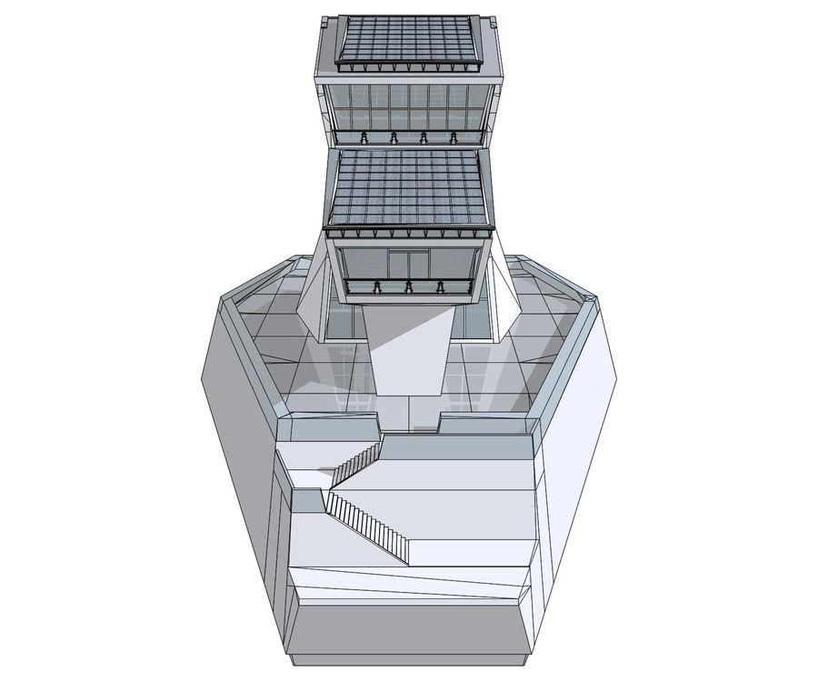 Futuristic architecture royalty-free 3d model - Preview no. 3