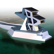 Futuristische architectuur 3d model