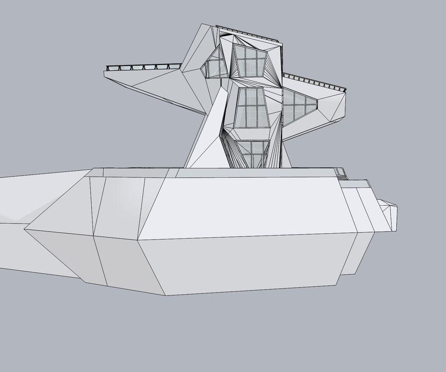 Futuristic architecture royalty-free 3d model - Preview no. 8