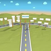 Scena z kreskówek 3d model