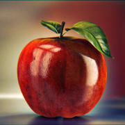 Photoreal Apple 3d model