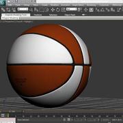 Orange white basketball ball 3d model