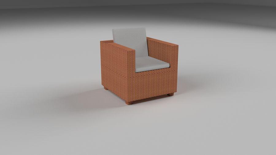Poltrona in vimini royalty-free 3d model - Preview no. 1