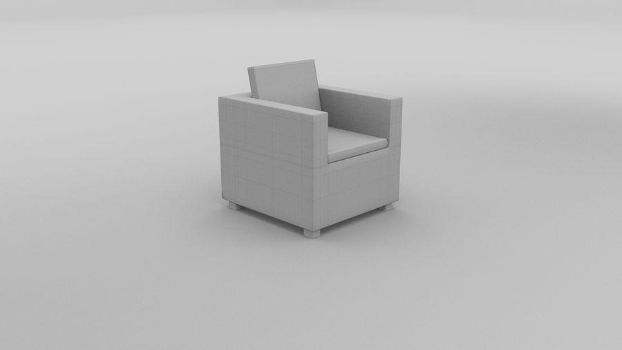 Poltrona in vimini 2 royalty-free 3d model - Preview no. 4