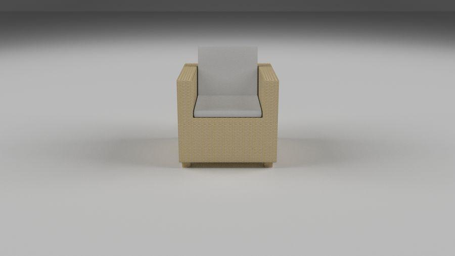 Poltrona in vimini 2 royalty-free 3d model - Preview no. 2