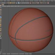 Pomarańczowa piłka do koszykówki 3d model