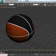 Dwukolorowa piłka do koszykówki 3d model