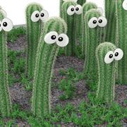 Cactus smile 3d model
