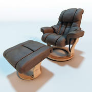 Poltrona Fortuna em Couro Relax 3d model