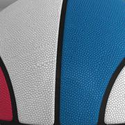 Piłka do koszykówki trójkolorowa 3d model