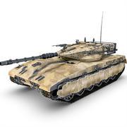 Tank Merkava modelo 3d