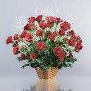 Rosas vermelhas 3d model