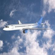 Bombardier cs300 commercial jet 3d model