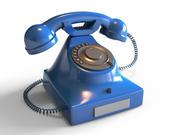 Realistic Rotary Phone 3d model