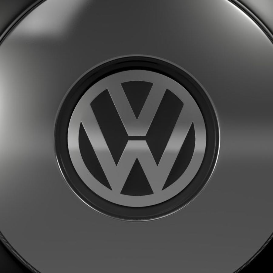Обод VW Beetle Classic royalty-free 3d model - Preview no. 5