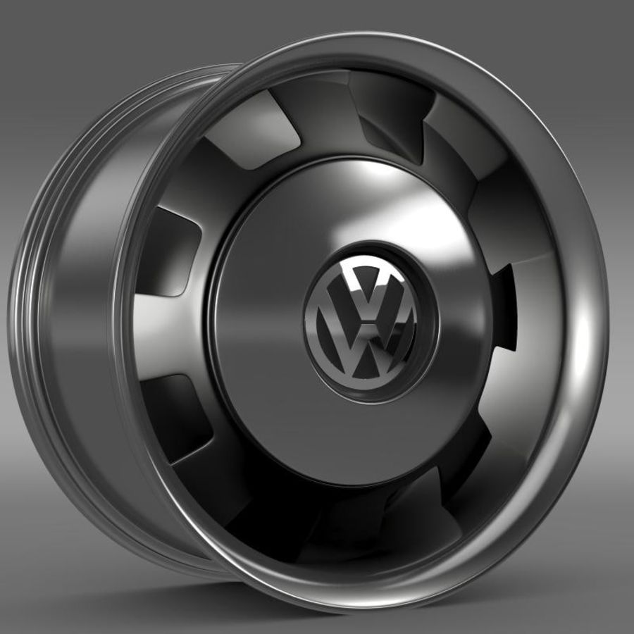 Обод VW Beetle Classic royalty-free 3d model - Preview no. 3