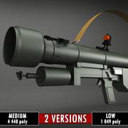 SA-7 Grail Roketatar düşük poli 3d model