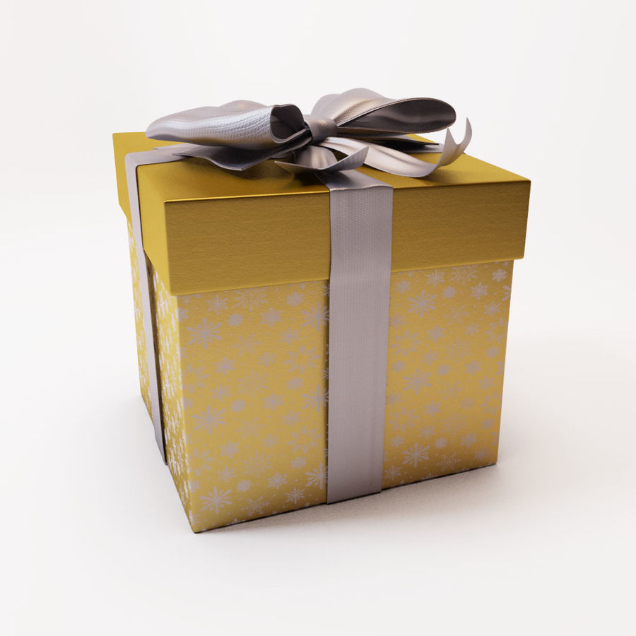 Geschenkbox 2 royalty-free 3d model - Preview no. 5