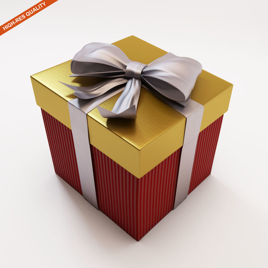 Geschenkbox 2 royalty-free 3d model - Preview no. 3